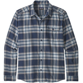 Patagonia M's Lightweight LS Flannel Shirt Whyte/Stone Blue